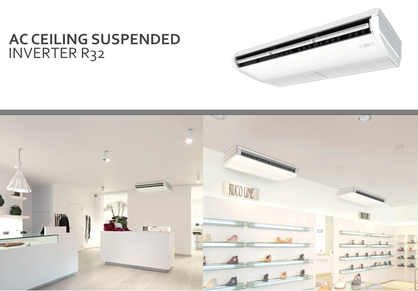AC Ceiling R32 INVERTER - ceiling suspended - pict 1